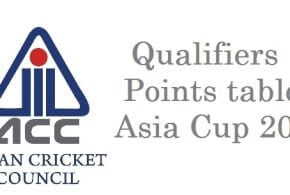 Qualifier points table asia cup 2016