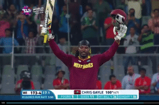 Chris Gayle Hundred run Innings