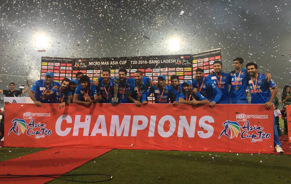India asia cup 2016 champion