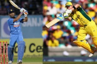 India vs Australia MS Dhoni and Steve Smith