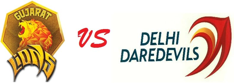 Image result for match between delhi daredevils and gujrat lions