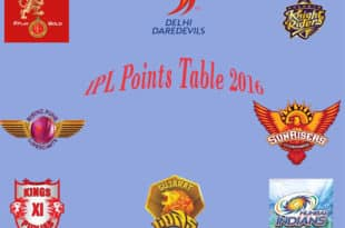 IPL Points table 2016