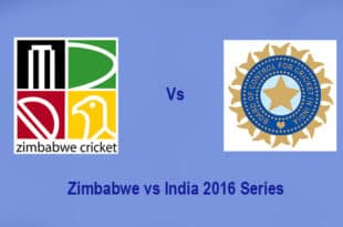 Zimbabwe vs India 2016 series