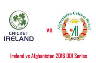 Ireland vs Afghanistan 2016 ODI Series