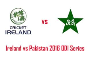 Ireland vs Pakistan 2016 ODI series