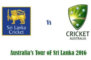 SL vs AUS 2016 series