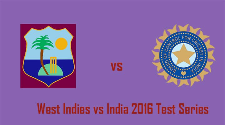 West indies vs India 2016 test series