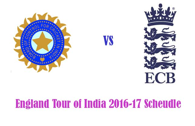 IND vs ENG 2016-17 Schedule