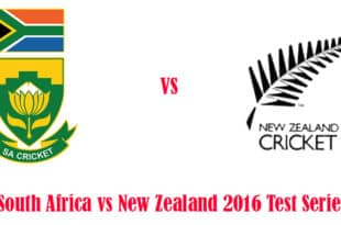 South Africa vs New Zealand 2016 Test Series